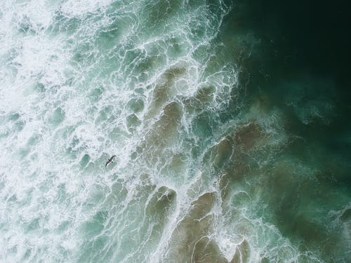 Green and White Water Waves