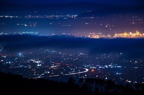 Foto profissional grátis de área da baía, azul, cidade, escuro