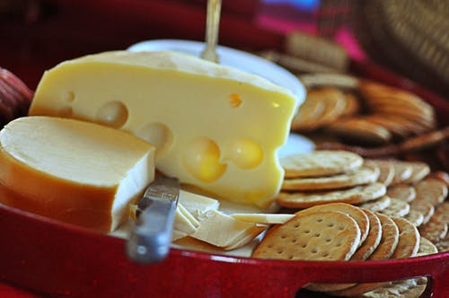 Free stock photo of cheese, cheesetray, crackers