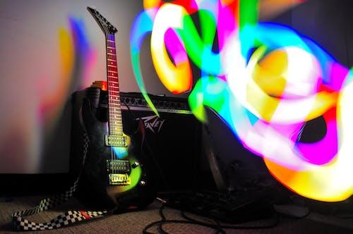 Free stock photo of guitar, lightpainting, music