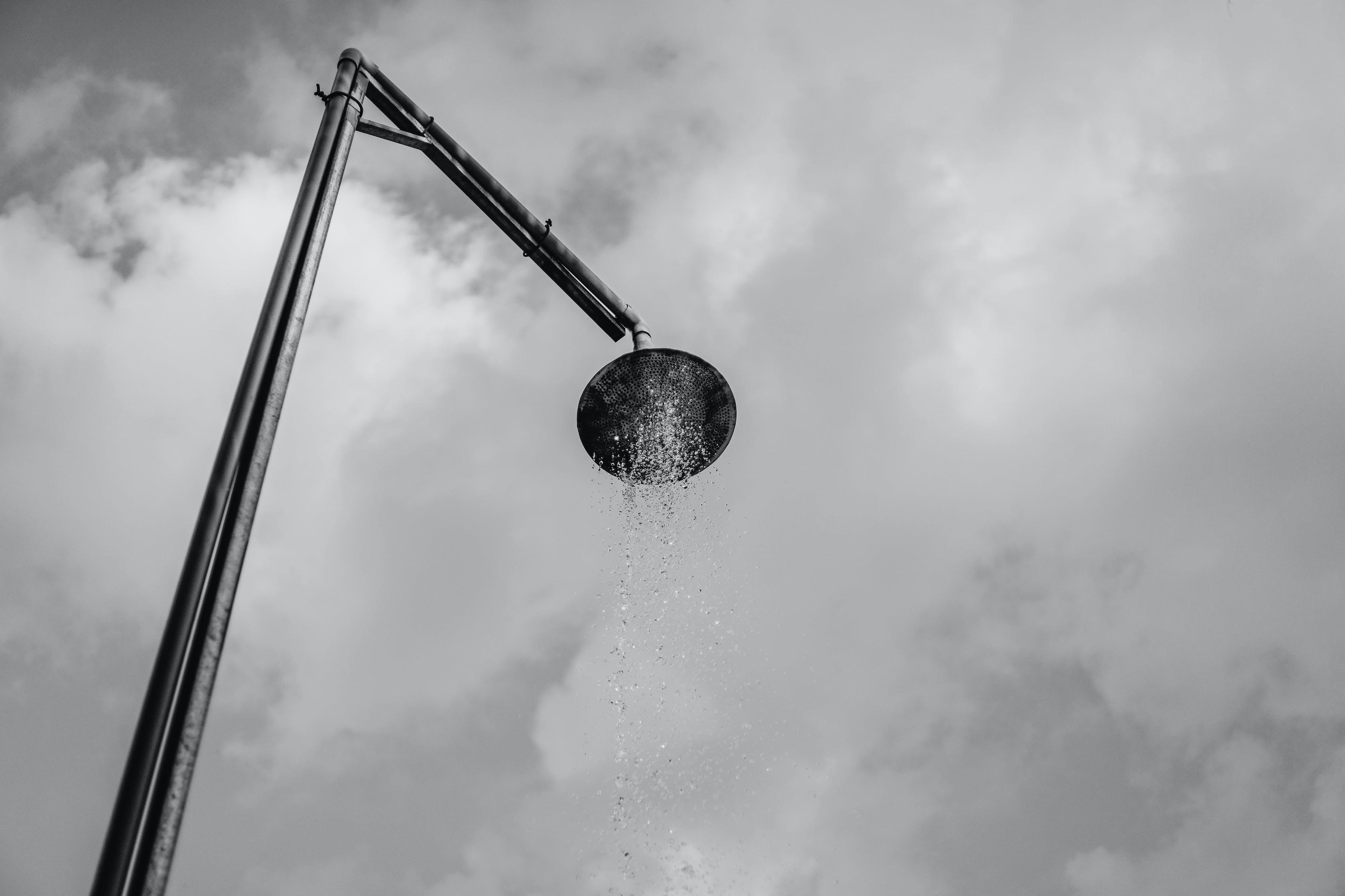 Water Splash on Stainless Steel Shower