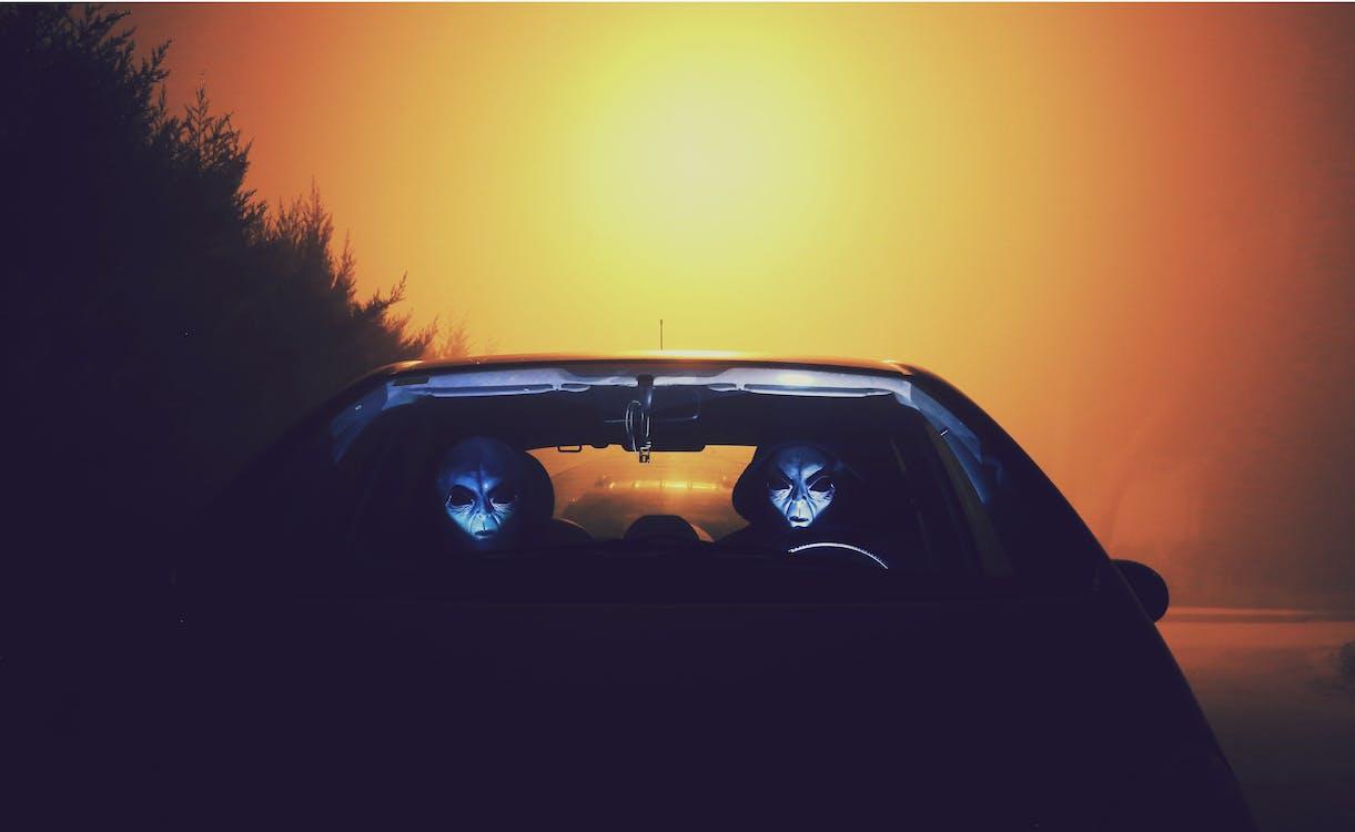 aften, bil, farver