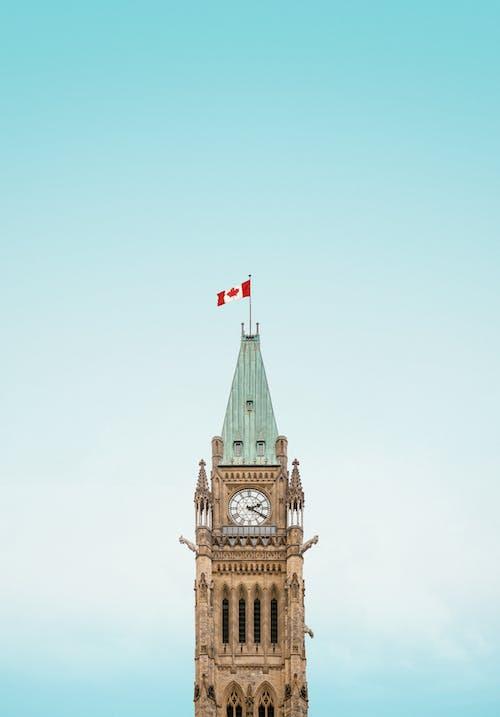加拿大, 加拿大国旗, 古老的, 哥德式 的 免费素材照片