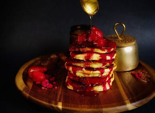 Photo Of Pancakes On Wooden Tray