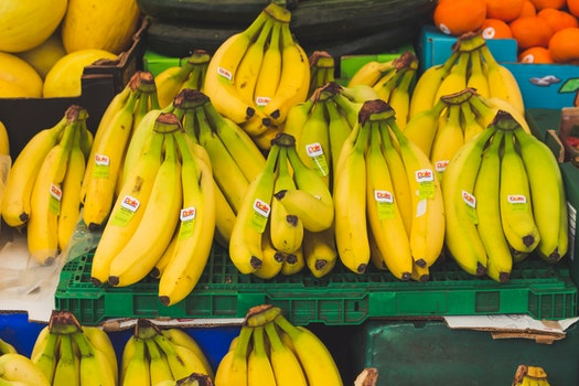 Free stock photo of food, healthy, bananas, market