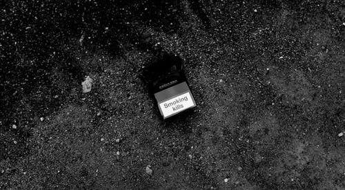 Photo Of A Gray Scale Cigarette Pack