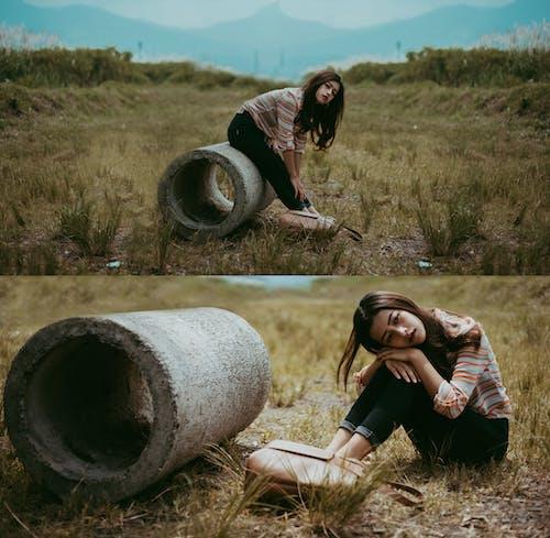 Безкоштовне стокове фото на тему «азіатські жінки, атмосферний, довге волосся, наодинці»