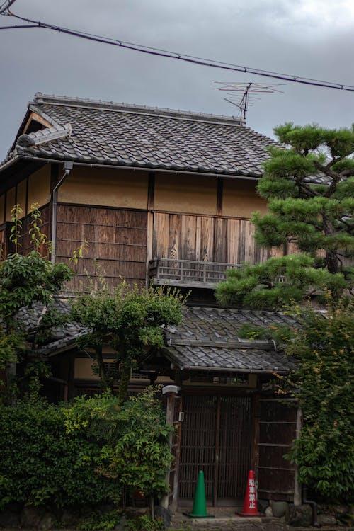 Gratis arkivbilde med bakgrunnsbilde, Japansk, trehus