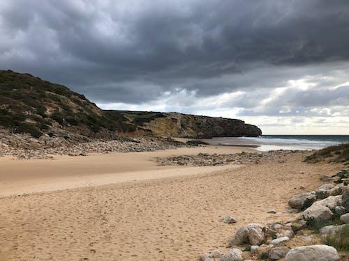 Szenisches Foto Des Strandes Während Der Morgendämmerung