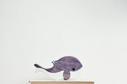 Brown Wooden Whale Ornament