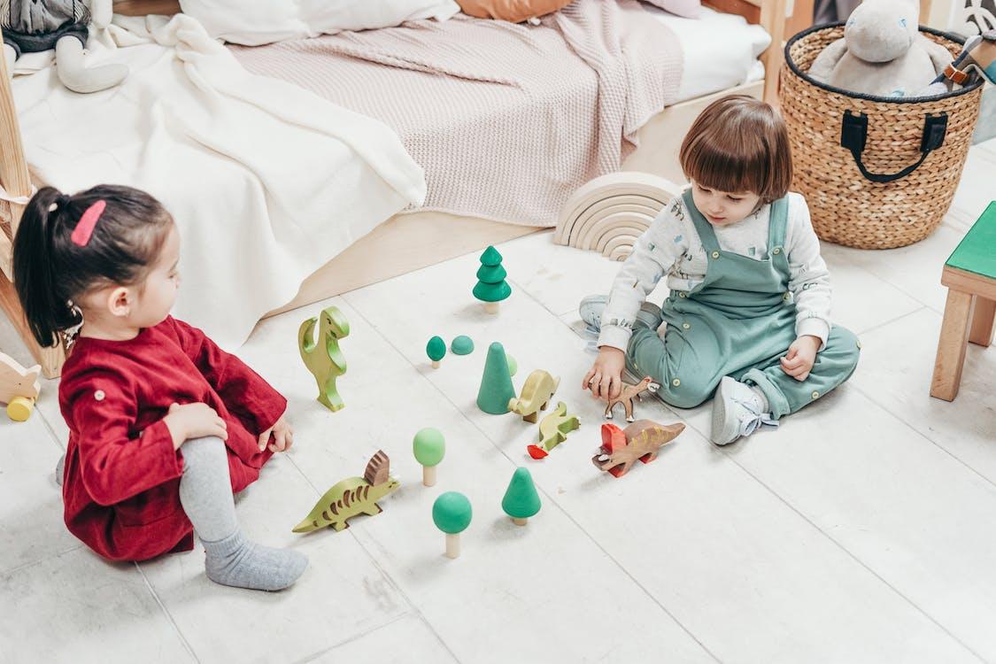 Kinderen Spelen Houten Speelgoed