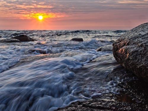 Free stock photo of dawn, sea, sunrise, surf