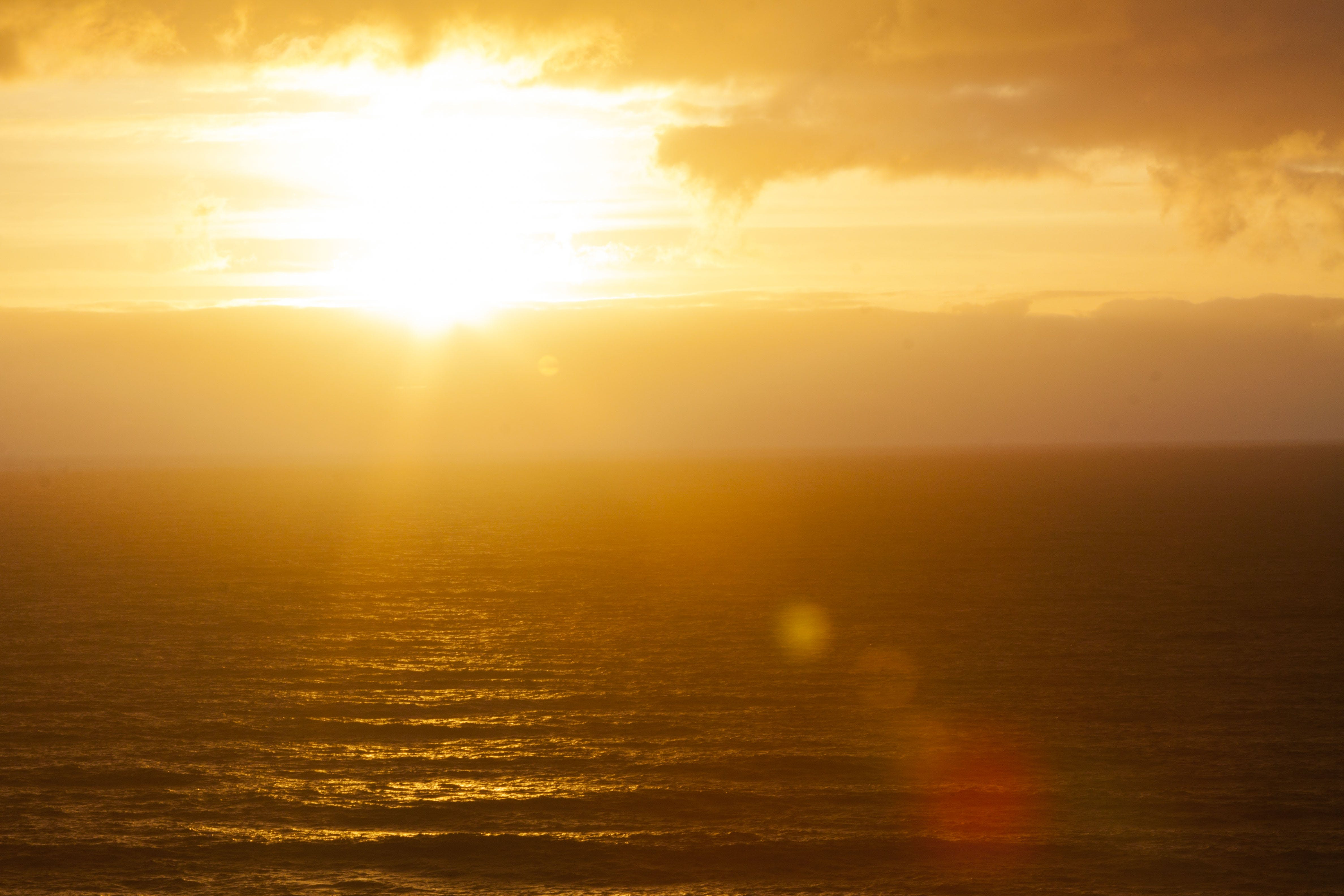 of evening sun, golden sun, ray of sunshine, sun