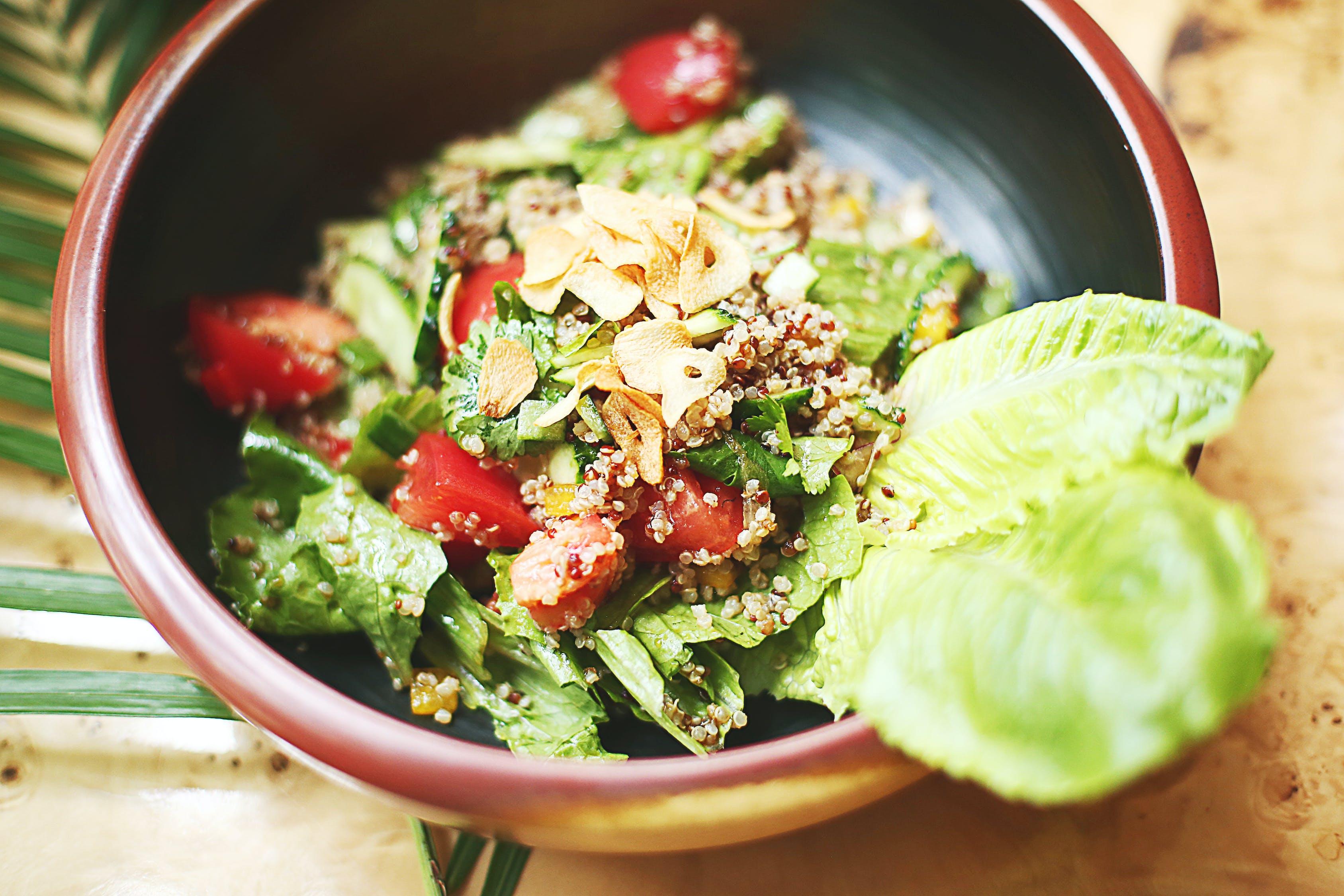Vegetable Salad on Ceramic Bowl