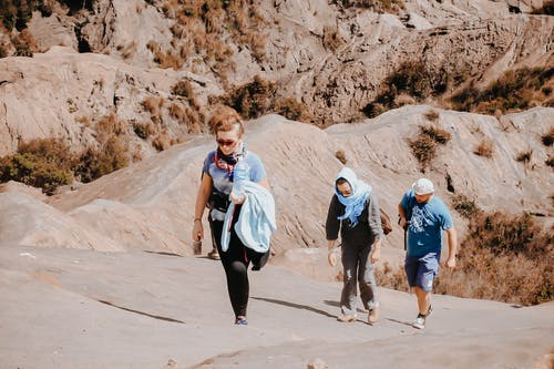 People On A Mountain Hike