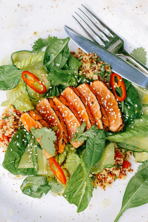 Salmon And Green Vegetable Salad