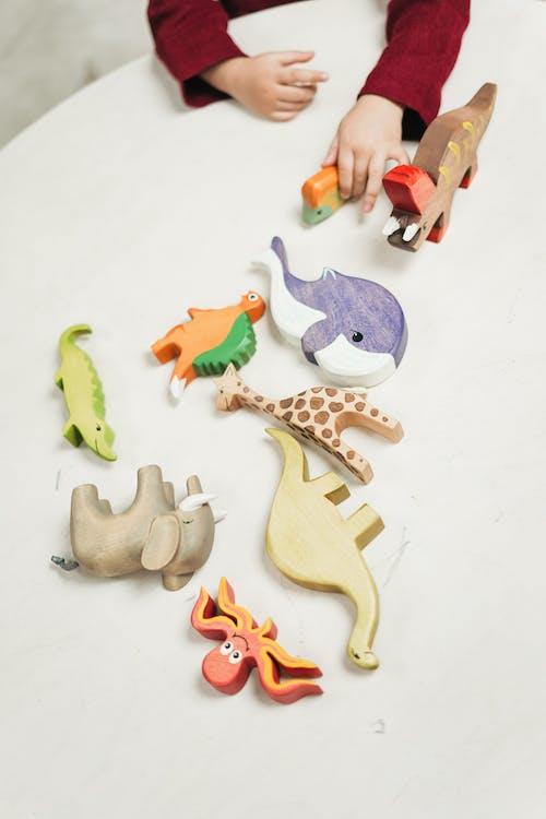 Hölzerne Spielzeugtiere