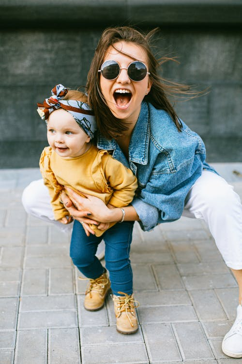 Een Foto Van Moeder En Dochter
