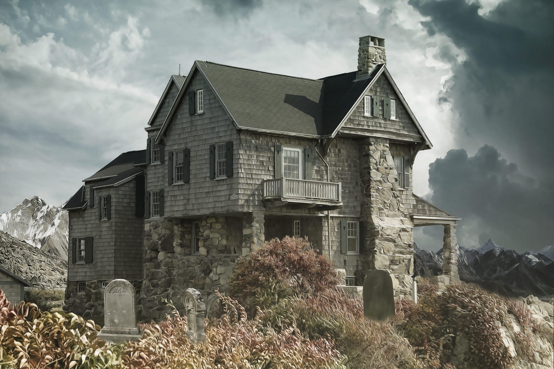 Foto stok gratis Arsitektur, atap, awan gelap, badai