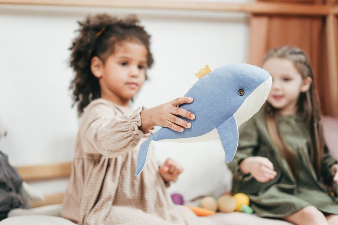Shallow Focus Photo of Girl Holding Stuffed Toy