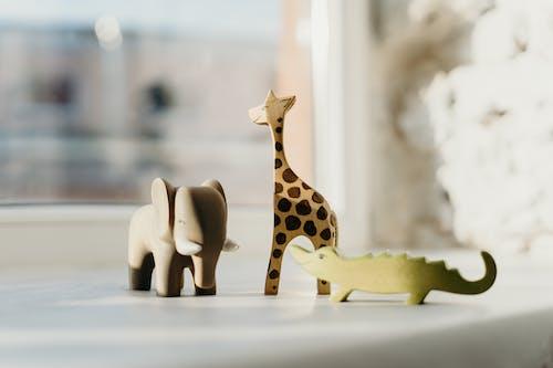Неглубокая фотография деревянных игрушек