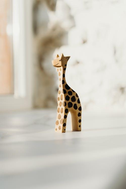 Brown and Black Giraffe Figurine