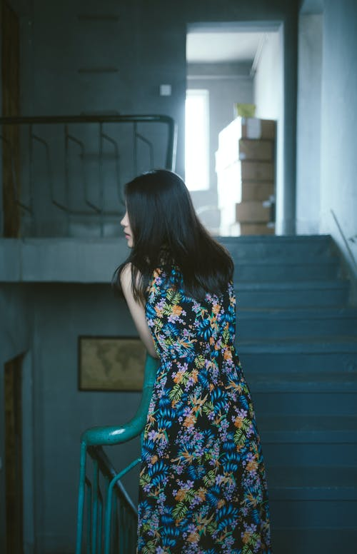Woman Wearing Floral Dress