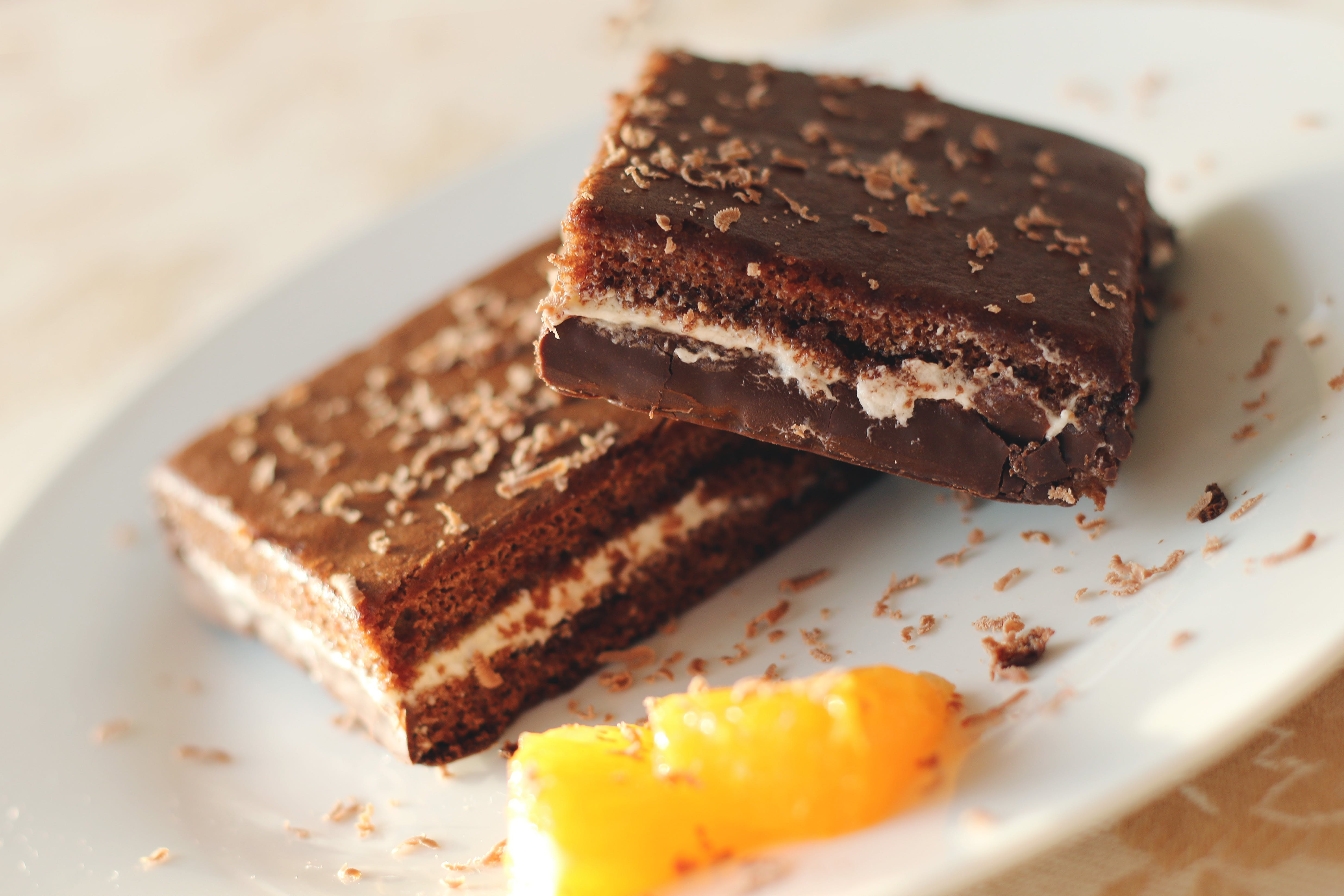 Baked Brownies on Plate