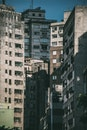 city, street, buildings