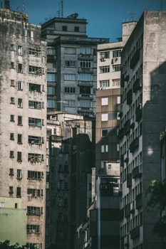 Free stock photo of city, high rise, multistory building, concrete building