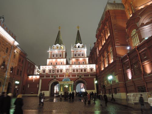 Free stock photo of centre, evening, gate leading to red square