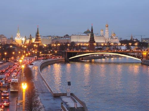Free stock photo of bridge moscow, bridge over the moscow river, bridge over the river