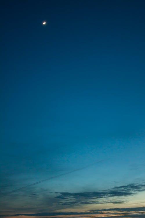 달, 일몰, 초승달의 무료 스톡 사진