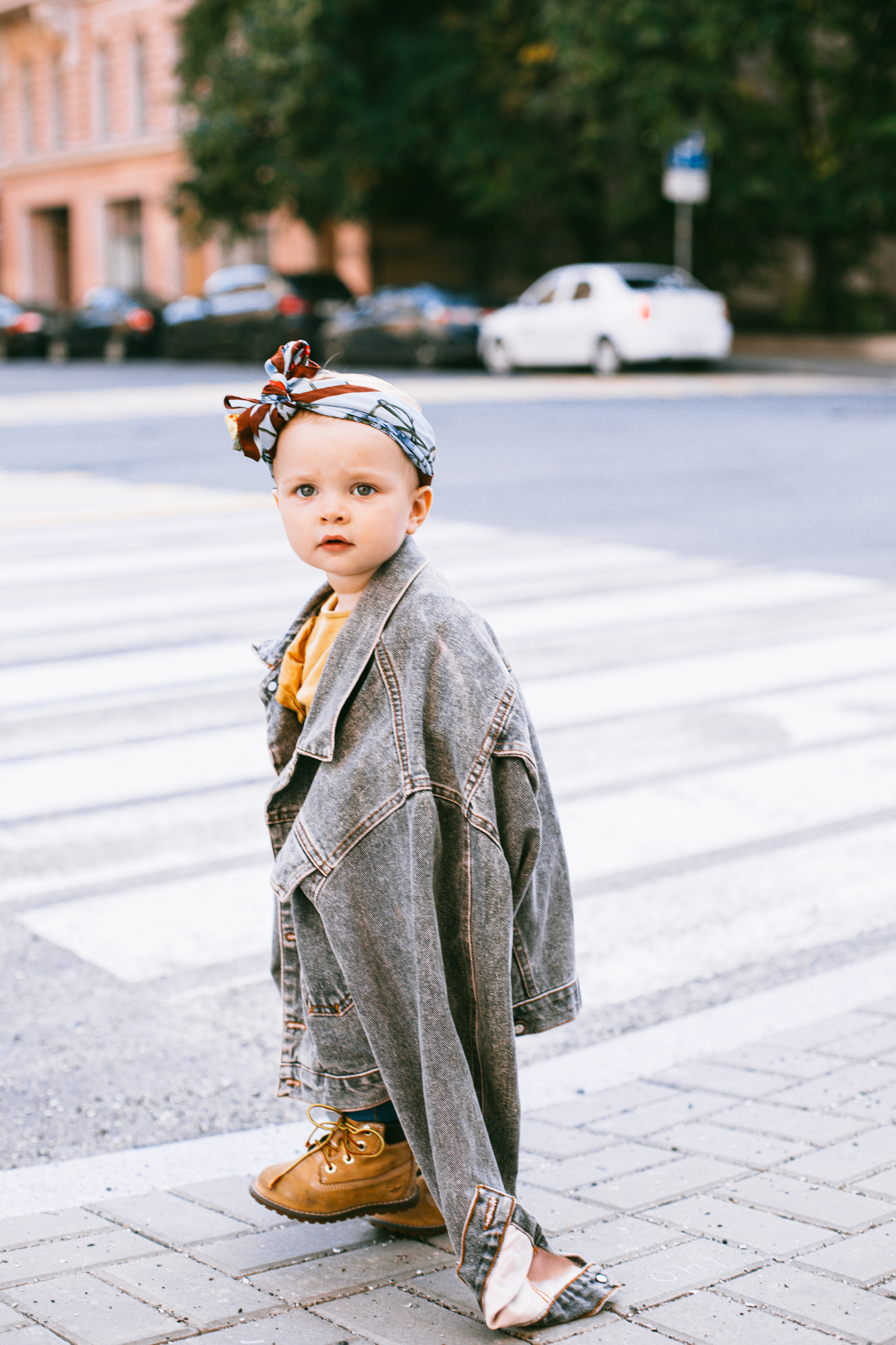 beautiful toddler wearing a headband