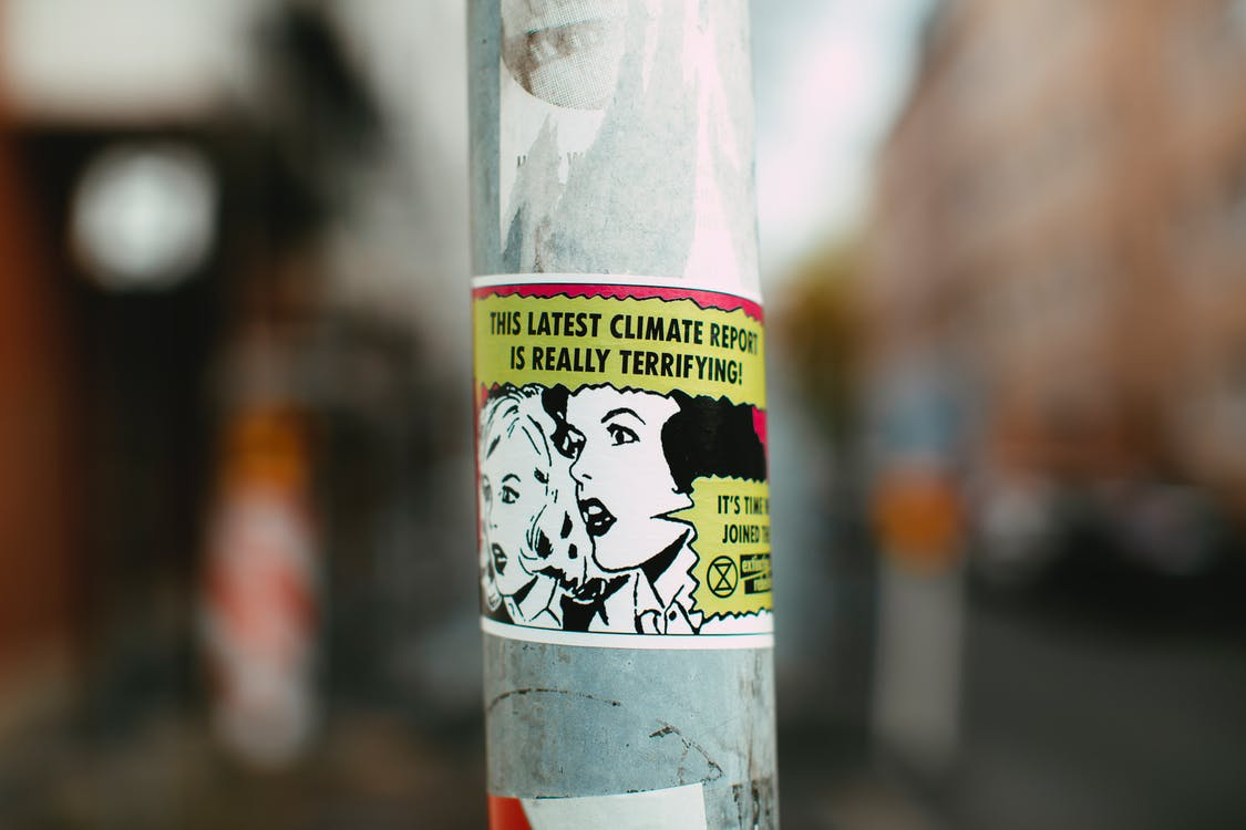 Sticker Attached In Electric post