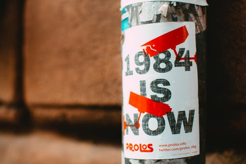 Poster of 1984 is Now Paste on Street Post
