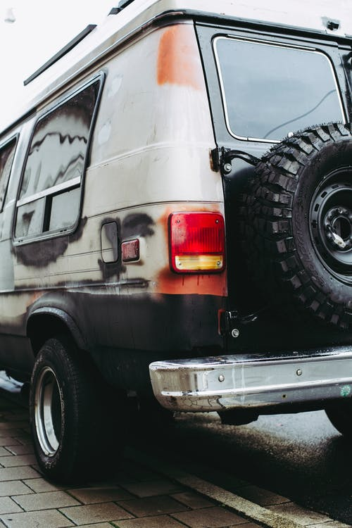Free stock photo of car, grunge, rusty, van
