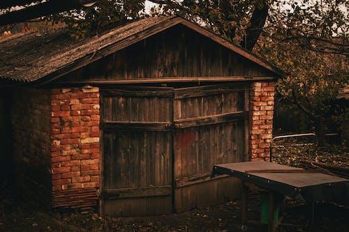 ağaç, arazi, garaj içeren Ücretsiz stok fotoğraf