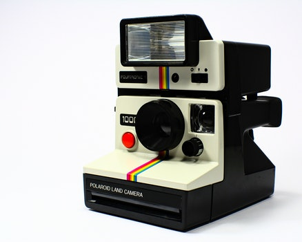 White and Black Polariod Land Camera