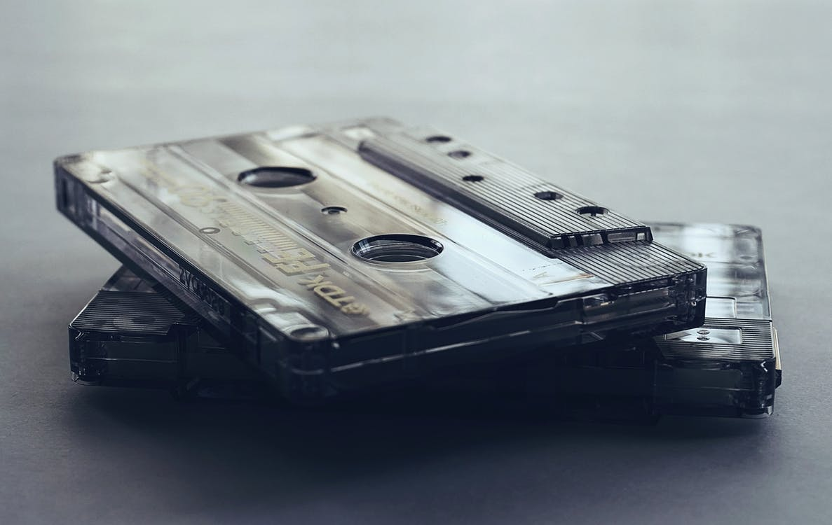 Close-Up Photo of Cassette Tapes