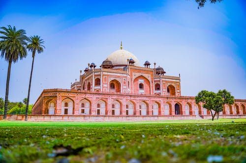 Humayun's Tomb Under Blue Sky