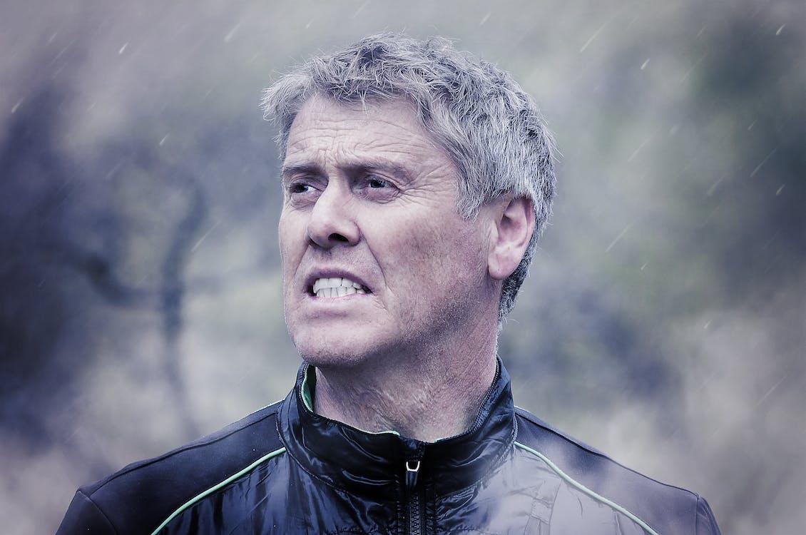 déšť, dospělý, muž