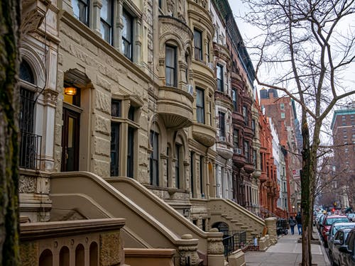 Free stock photo of apartment buildings, apartments, brownstones, buildings