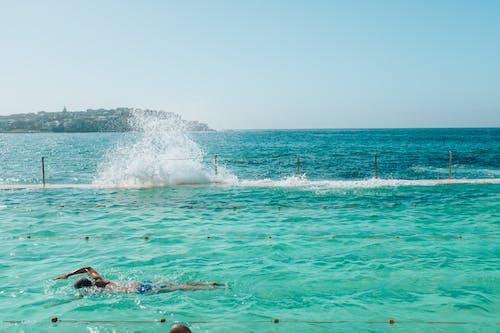 Person Swimming in Bondi Icebergs Pool
