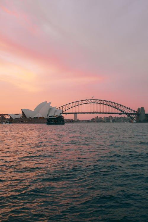 Δωρεάν στοκ φωτογραφιών με αρχιτεκτονική, αυγή, Αυστραλία, γέφυρα