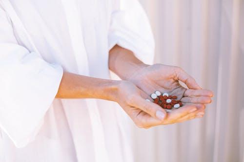 마약, 비타민, 손바닥(손), 약의 무료 스톡 사진