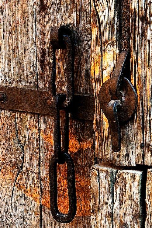 Foto profissional grátis de entrada, ferrugem, madeira, porta