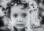 black-and-white, girl, cute