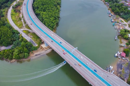 Drone Capture Of Connecting Bridge