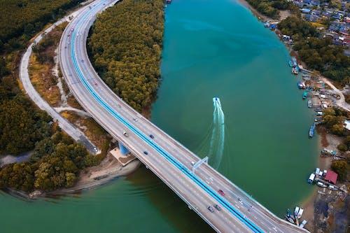 Vista Aérea De Un Puente Sobre Un Río
